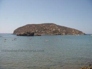 Yacimiento fenicio en la playa de la isla mazarr n - Ceramicas mazarron ...